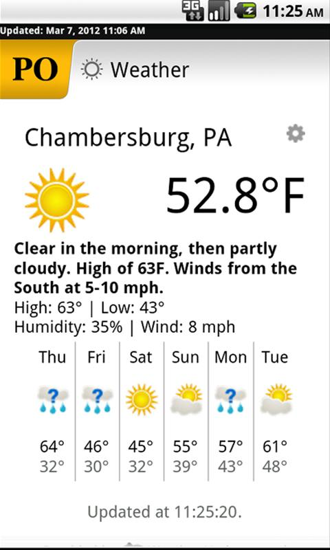 Chambersburg Public Opinion - screenshot