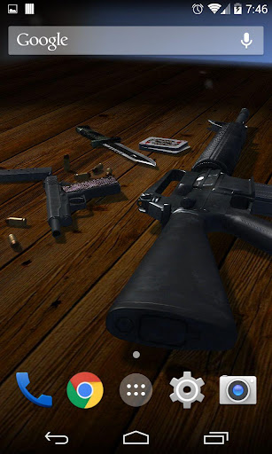 3D Guns Live Wallpaper Free