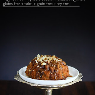 Fig Cake with Coconut Vanilla Glaze