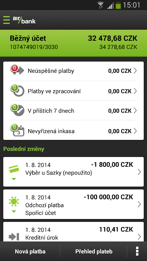 Screenshots of Mobile banking for Android
