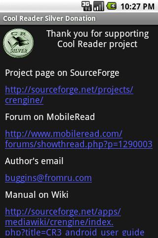 Cool Reader Silver Donation- screenshot