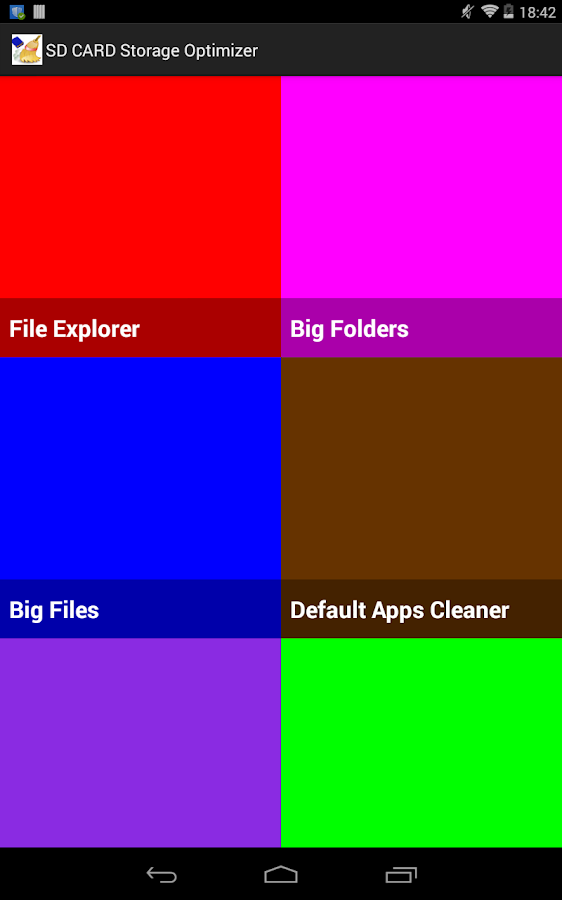 SD CARD Storage Optimizer - screenshot
