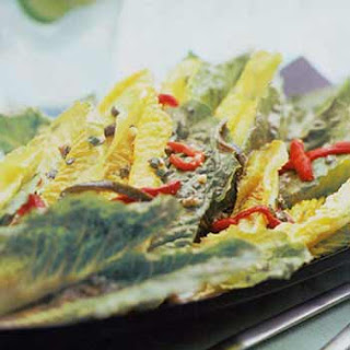 Hearts of Romaine with Roasted Peppers and Cabrales Dressing
