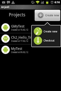 Android java editor - screenshot thumbnail