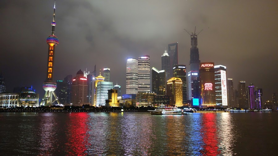 I like this picture I took in Shanghai by Tim Macbeth - City,  Street & Park  Skylines
