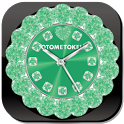 CUTE WORLD ALARM QLOCK Green icon