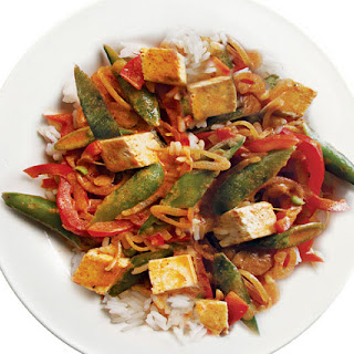Thai Red Curry with Tofu & Vegetables.