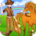 Cute Girl and Pony Dressup icon