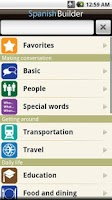 Screenshot of Learn Spanish - Phrasebook