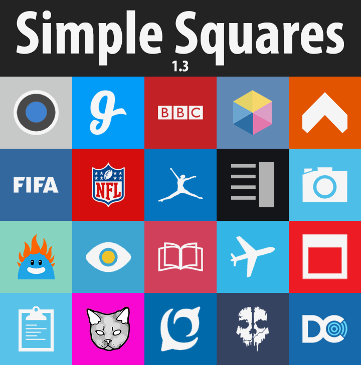 Simple Squares adw nova icons - screenshot