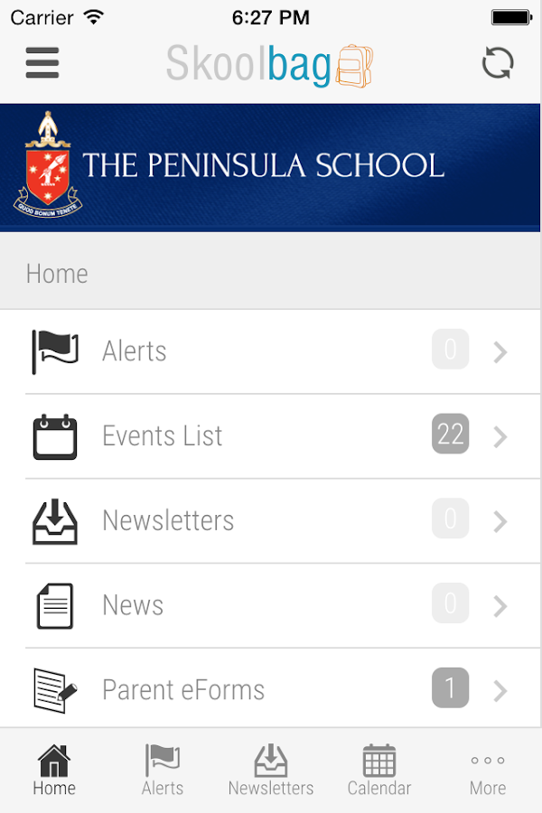 The Peninsula School Skoolbag- screenshot
