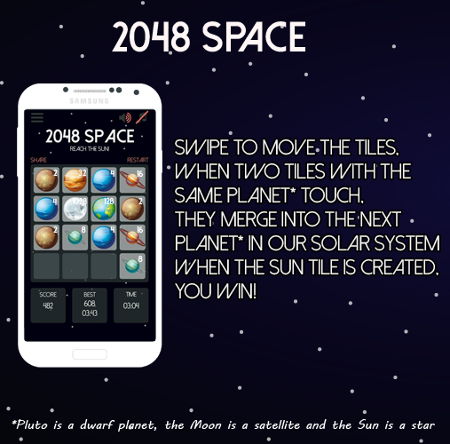 2048 Space Puzzle Game