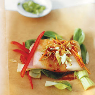 Asian-Style Halibut in Parchment.