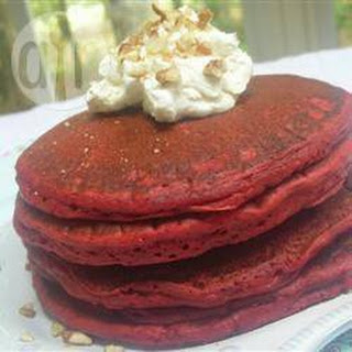 Red Velvet Pancakes with Mascarpone Glaze Recipe