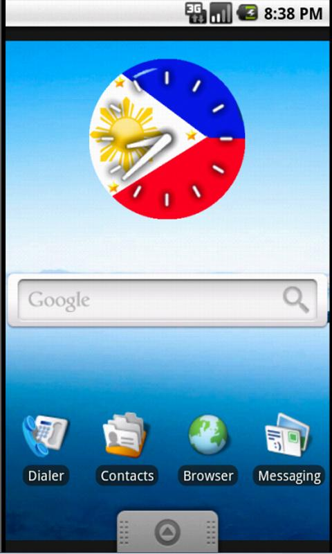 Pinoy Clock Widget free - screenshot