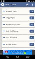 Screenshot of Status & Quotes