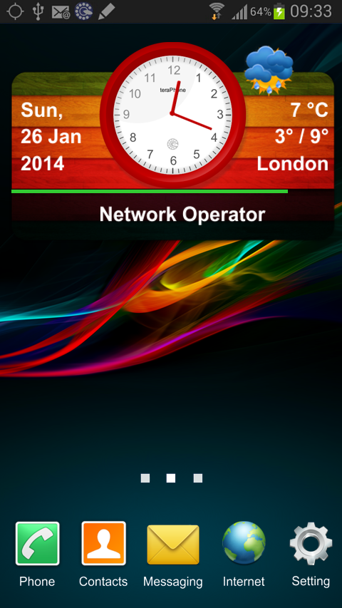 teraPhone Clock Weather Widget - screenshot