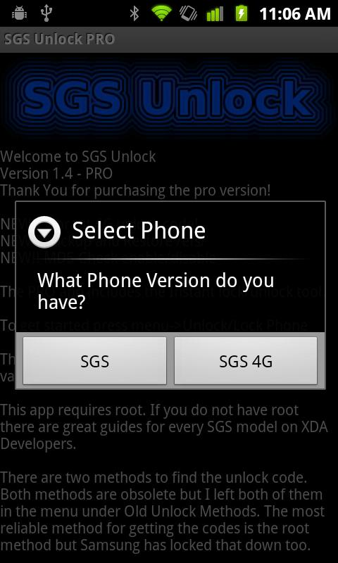 SGS Unlock PRO (NEEDS ROOT) - screenshot