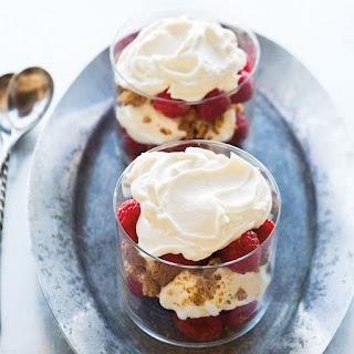 Raspberry-Mascarpone Parfaits with Amaretti