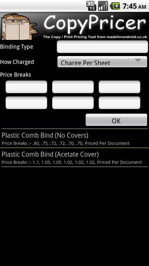 CopyPricer Free- screenshot