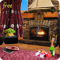 Romantic Fireplace LWP icon