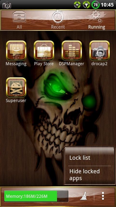 Wood Skull GO launcher EX - screenshot