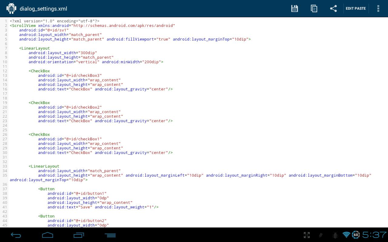DroidPaste for Pastebin - screenshot