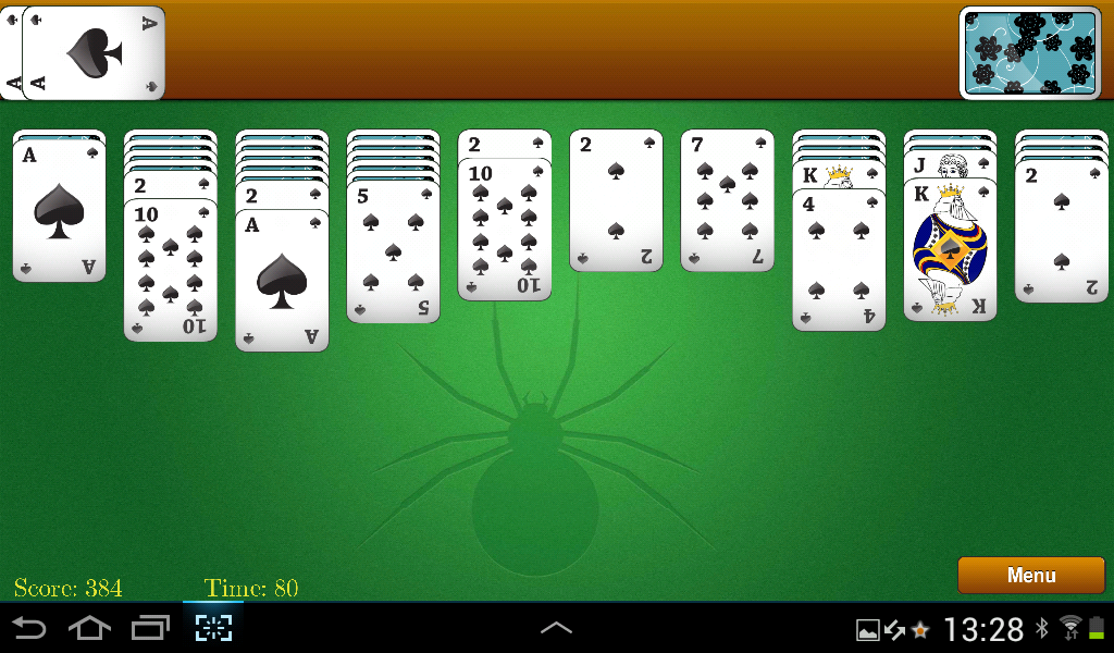 Classic Spider Solitaire- screenshot