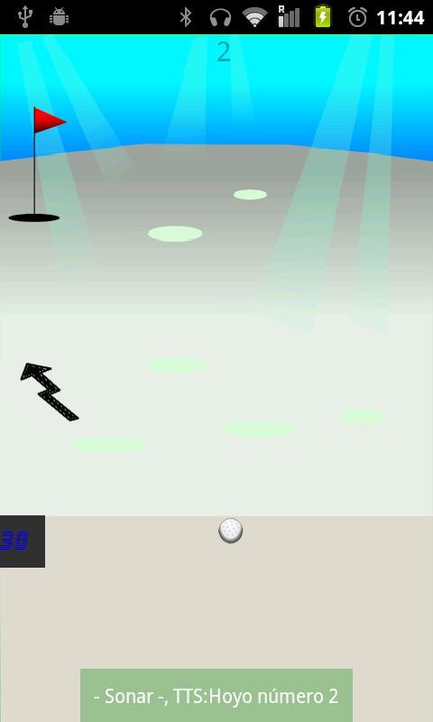 Eyes-free Golf (BFG)- screenshot