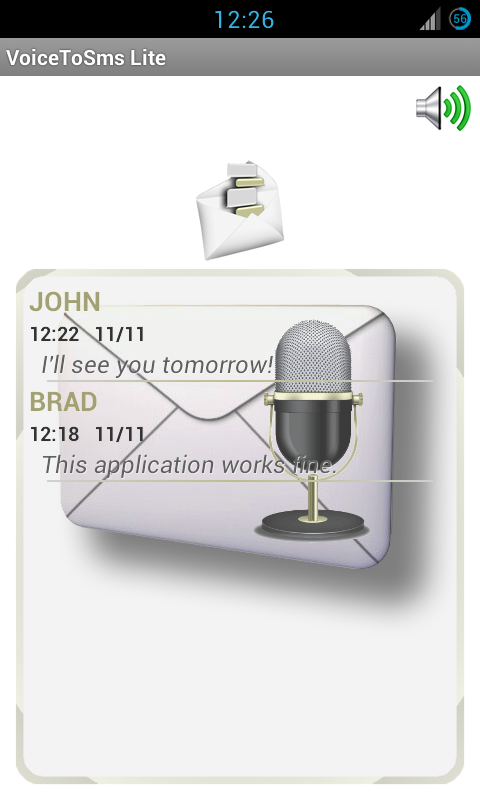 Voice To SMS - screenshot