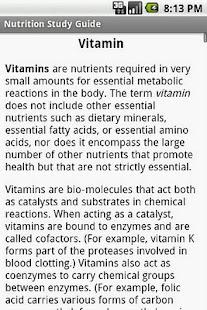 Nutrition Study Guide - screenshot thumbnail