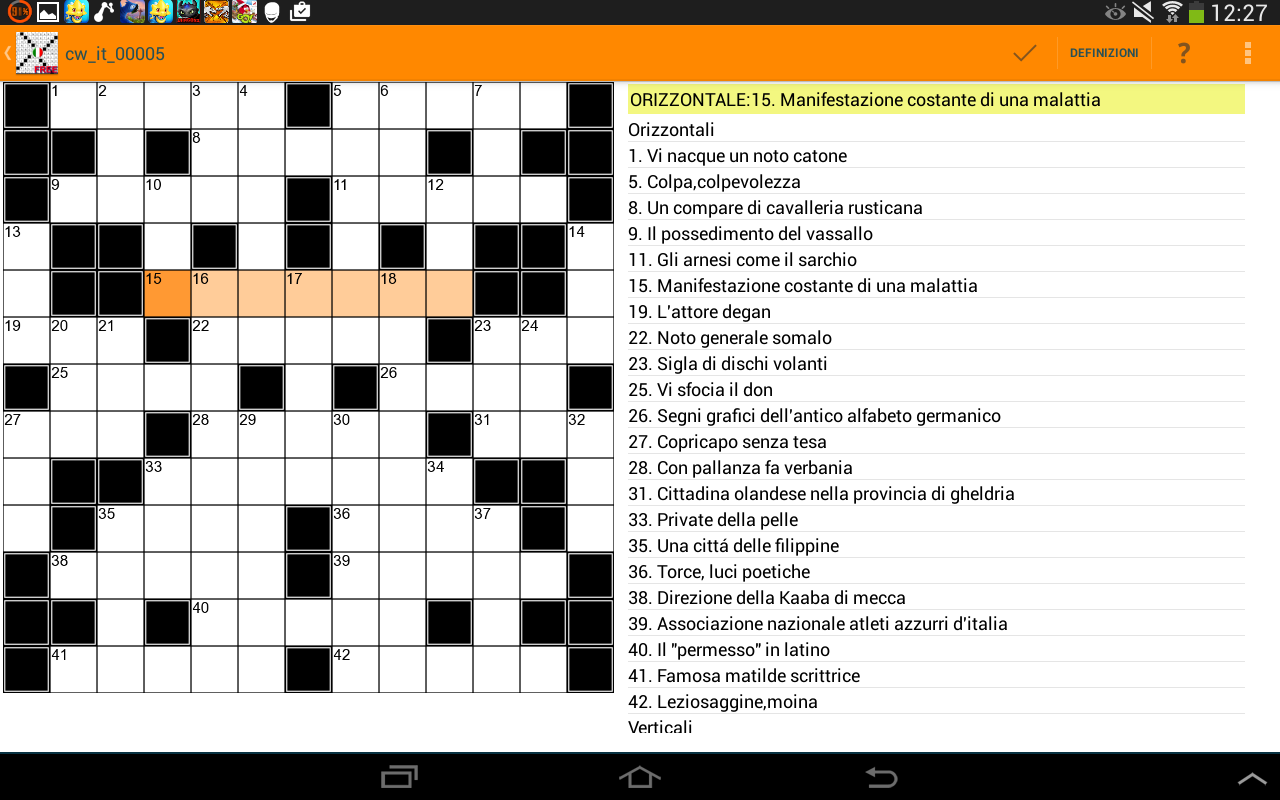Cruciverba italiani app pro android apps on google play for Cruciverba per anziani da stampare