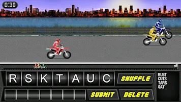 Screenshot of Word Rider