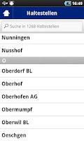 Screenshot of Abfahrten