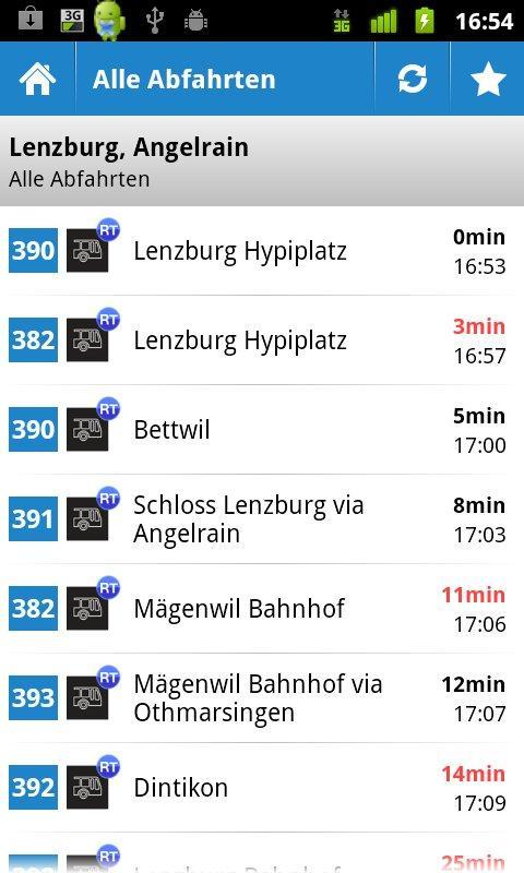 Regionalbus Lenzburg- screenshot