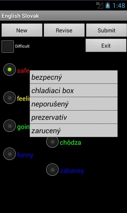 English Slovakian Tutor - screenshot