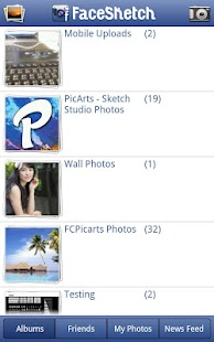 PicArts FaceSketch to Facebook - screenshot thumbnail
