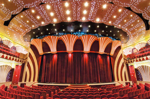 MSC-Musica-Teatro-La-Scala - Performances and shows in the vivid Teatro La Scala keep passengers on MSC Musica well entertained.