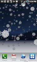 Screenshot of Snowy Night 3D Wallpaper Free