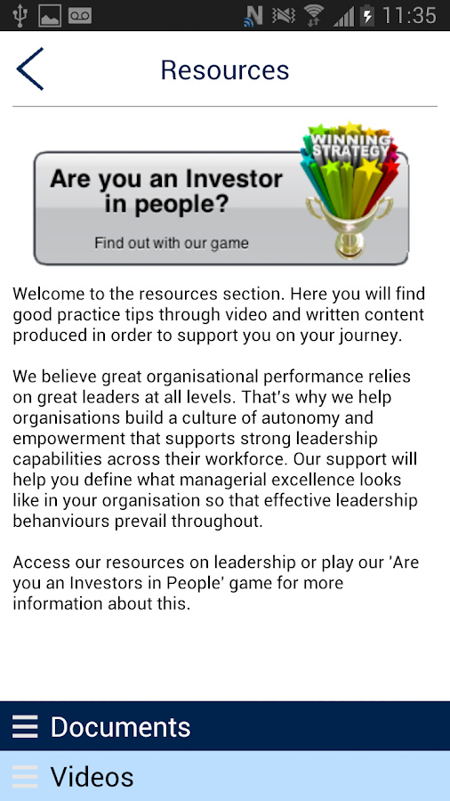 Investors in People- screenshot