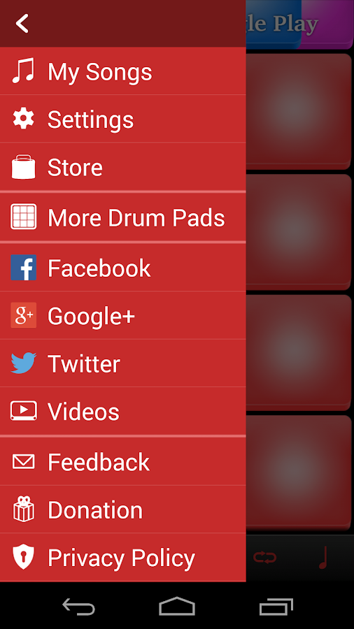 Rock Drum Pads- screenshot