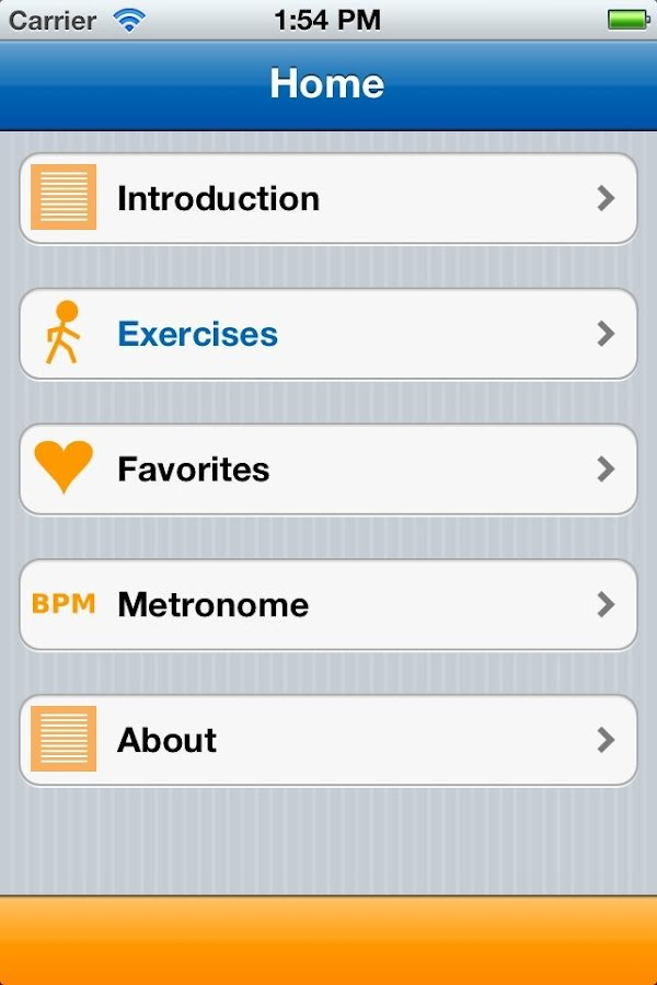 Parkinson Home Exercises - screenshot