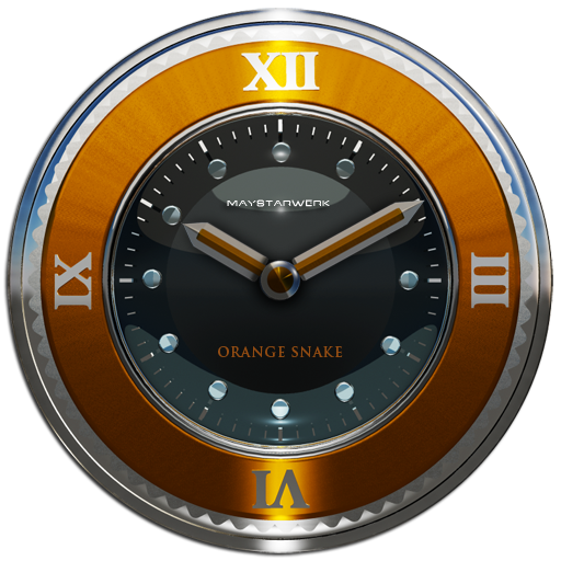 orange snake clock widget