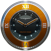 orange snake clock widget
