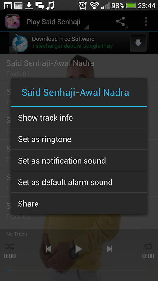 Said Senhaji Mp3 - screenshot