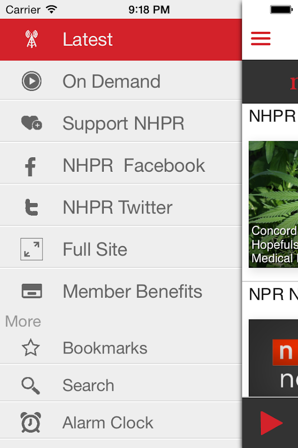NHPR Radio - screenshot