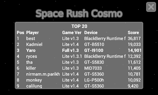 Space Rush Cosmo FREE- screenshot thumbnail