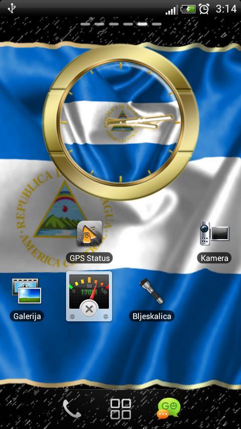 Nicaragua flag clocks- screenshot