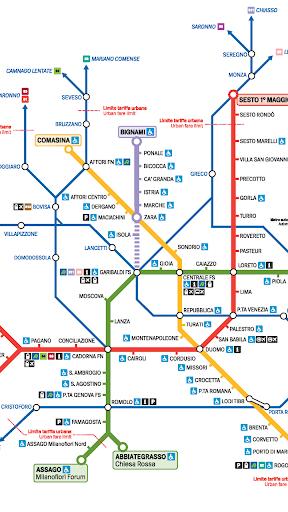 밀라노 지하철 노선도