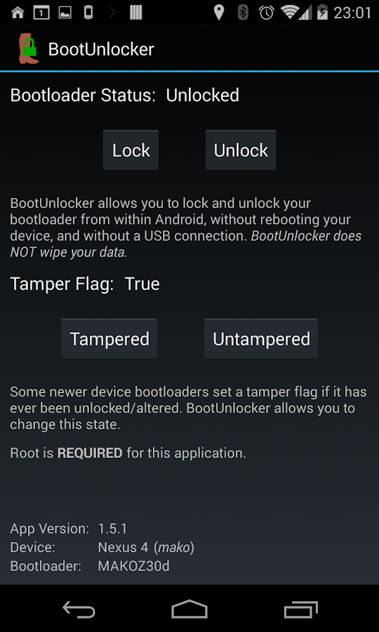 BootUnlocker for Nexus Devices - screenshot